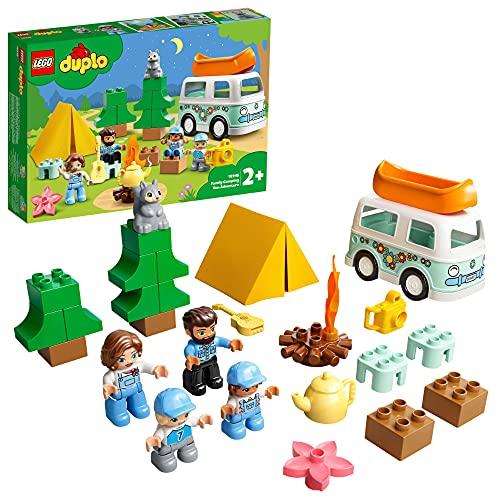 LEGO 10946 DUPLO Familienabenteuer mit Campingbus, Wohnmobil Spielzeugauto, Lernspielzeug ab 2 Jahre,...