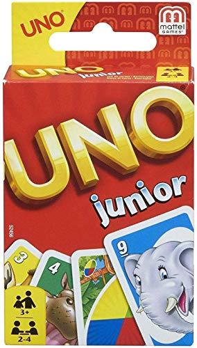 Mattel Games 52456 - UNO Junior Kartenspiel für Kinder, Kinderspiele geeignet für 2 - 4 Spieler ab 3...