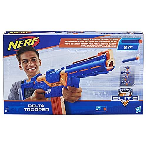 Hasbro E1911 Nerf N-Strike Elite Delta Trooper, Spielzeugblaster mit ansteckbarer Schulterstütze