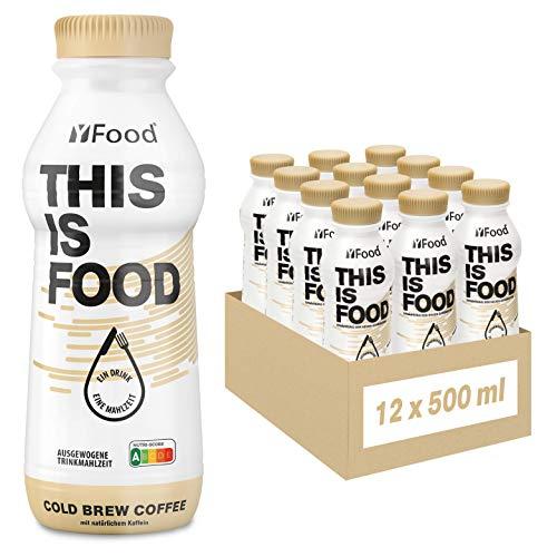 YFood Kaffee | Laktose- und glutenfreier Nahrungsersatz | 34g Protein, 26 Vitamine und Mineralstoffe |...
