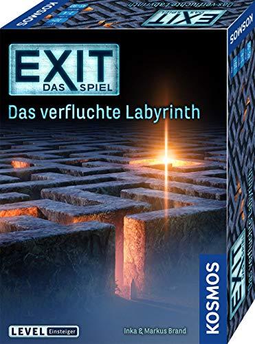 KOSMOS 682026 EXIT - Das Spiel - Das verfluchte Labyrinth, Level: Einsteiger, Escape Room Spiel, für 1...