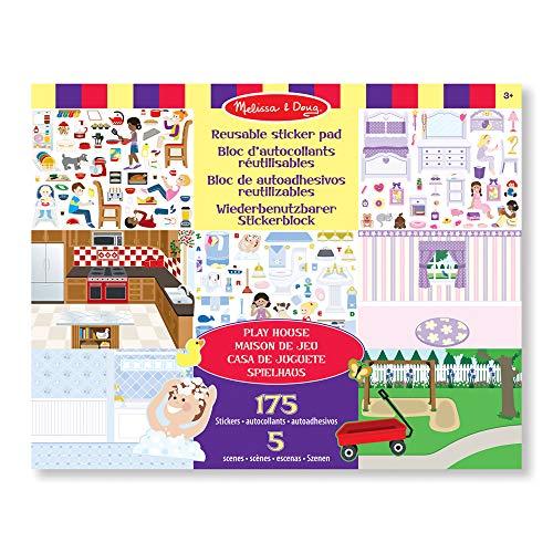 Melissa & Doug Wiederbenutzbarer Stickerblock - Spielhaus (175 Sticker)