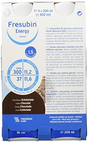 Fresubin energy DRINK, 6X4X200 ml, Schokolade
