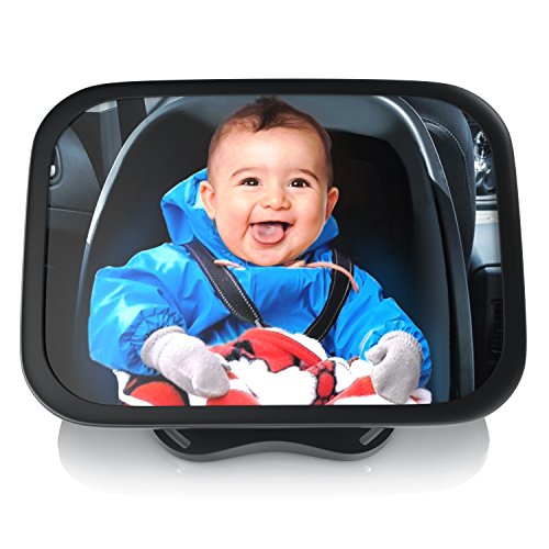 CSL - Rücksitzspiegel für Babys 23x16cm - Auto-Rückspiegel für die Babyschale - Sicherheitsspiegel -...