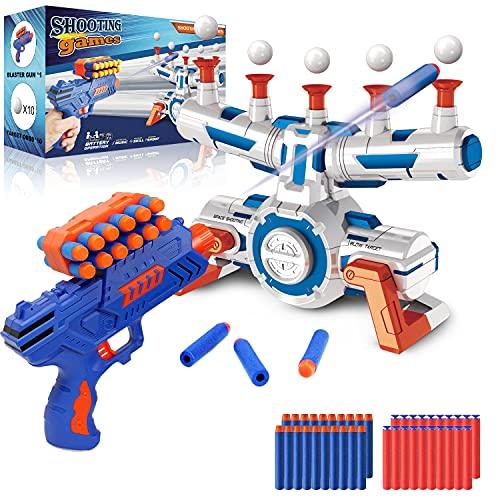 Elektrische Hover Zielscheibe für Nerf Pistole, Digitales Ball Ziel mit 1 Spielzeug Waffe, 10...