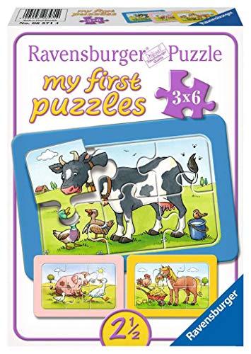 Ravensburger Puzzle Kinder Gute Tierfreunde, Rahmenpuzzle, My First Puzzles Für Kinder Ab 2.5 Jahren, 18...