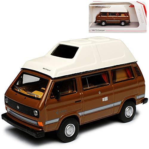 Volkwagen T3 Joker Westfalia Camper Bus Personen Transporter Braun mit Weiss 1979-1992 1/64 Schuco Modell...