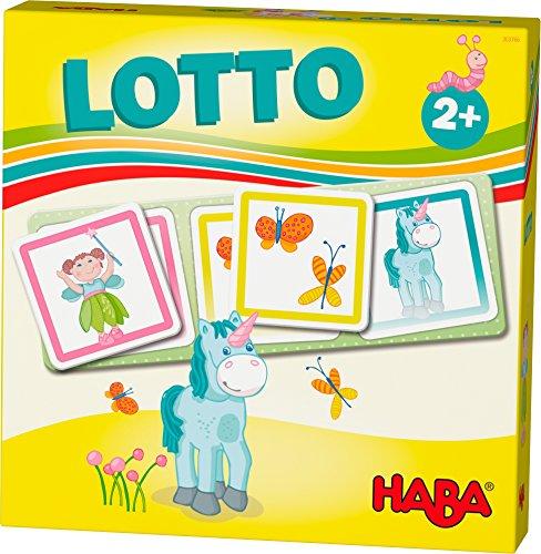 HABA 303766 - HABA-Lieblingsspiele – Lotto Feenland | Lottospiel mit 4 Ablagekarten und 12 extragroßen...