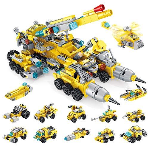 WIDELAND Bausteine Spielzeug für Jungen 6 7 8 9 10 Jahre 566 Teile Konstruktionsspielzeug 25-in-1 STEM...