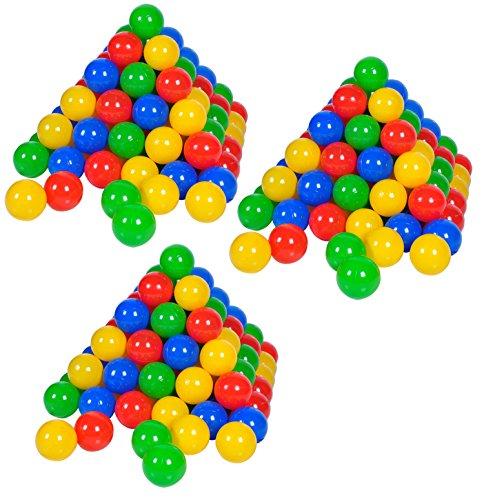 Knorrtoys 56790 - Bälleset - 300 bunte Plastikbälle/ Bälle für Bällebad im Karton, 6 cm Durchmesser,...