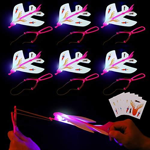 Herefun Fliegen Spielzeug, 6 Pack Licht Hubschrauber Fliegen Led Leuchtspielzeug Partyartikel, Glow in...