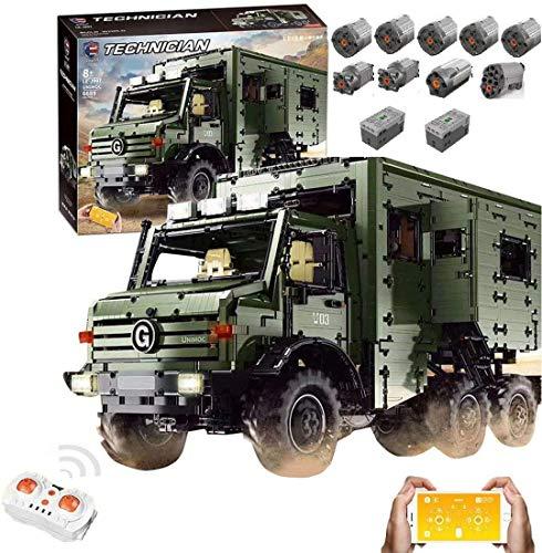 KEAYO Technik Wohnmobil Modell für Unimog U5000, Technik Offroad LKW mit Fernbedienung und 9 Motors,...