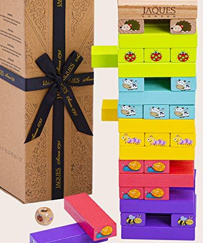 Jaques von London Lass Uns Tier Spielen Spiel Tower – Holz Spielzeug und Spiel holzsteine – Perfekt...