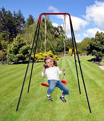 Izzy Schaukelgestell Metall mit Brettschaukel 152x152x185 cm Tragkraft 50 kg Kinder Garten Outdoor...