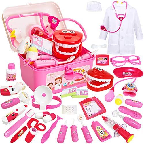 Buyger 35 Teile Arztkoffer Medizinisches Doktor Arztkittel Rollenspiel Spielzeug ab 3 Jahre Mädchen...