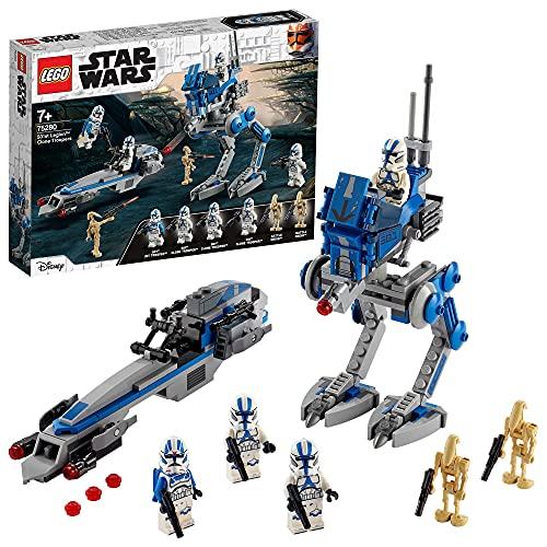 LEGO75280StarWarsCloneTroopersder501.Legion,BausetmitKampfdroidenundat-RTWalke...
