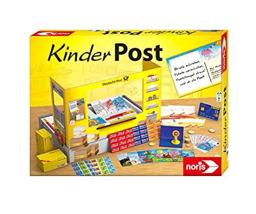 Noris 606011236 Kinderpost, Klassisches Kinder Rollenspiel, inkl. Postschalter und viel Postzubehör,...