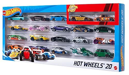 Hot Wheels H7045 - 1:64 Die-Cast Fahrzeuge, mittelgroßes Auto Geschenkset, je 20 Spielzeugautos,...