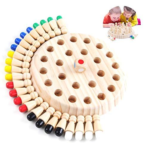 Kinder hölzernes gedächtnis-Schach,Schachbrett Spielzeug,Memory Match Stick Schach,Memory Schach...