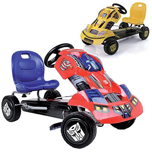 Hauck Transformers Go-Kart Optimus Prime für Kinder ab 4 Jahren, coole Karosserie, Handbremse für beide...