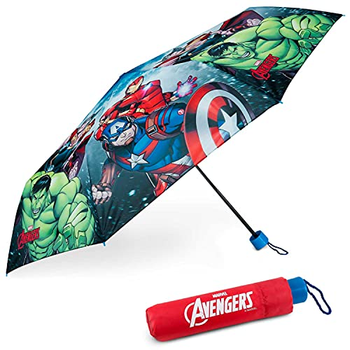 Regenschirm Kinder Avengers - BONNYCO   Regenschirm Sturmfest mit Verstärkter Struktur - Klappschirm mit...