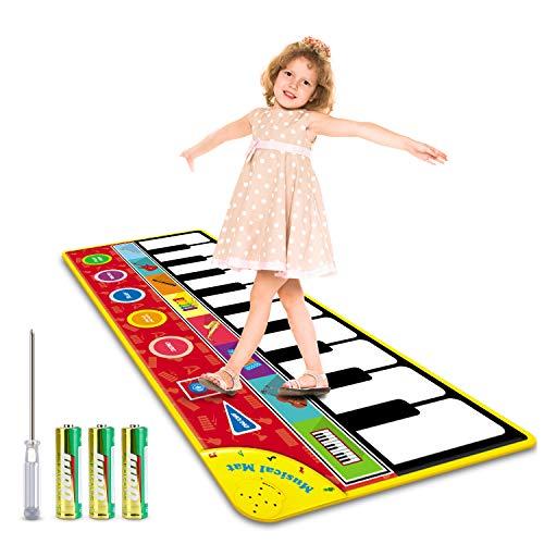 Magicfun Tanzmatte für Kleinkinder, Musikmatte Klaviermatte Spielzeug, Musikteppich Tanzmatten mit 8...