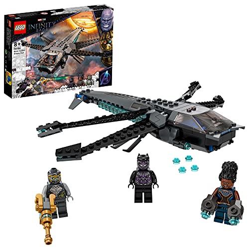 LEGO 76186 Marvel Super Heroes Black Panthers Libelle Spielzeug, Avengers Set mit Black Panther Figur und...