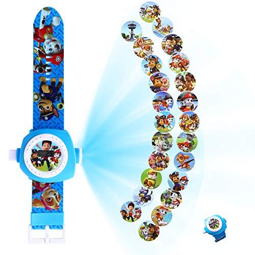 YNK Armbanduhren Spielzeug Kinder, Armbanduhr mit Projektion Paw Patrol, Einstellbare Digitale...