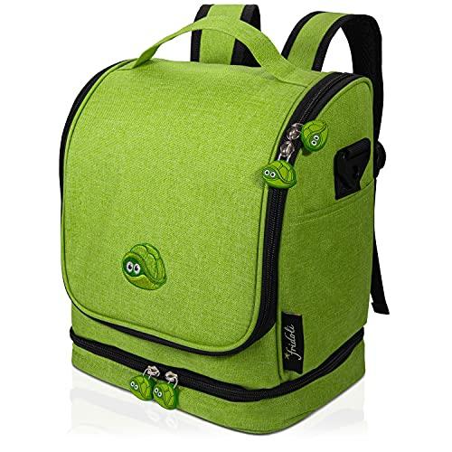 fridoli Kinderrucksack für Toniebox und Zubehör | grün | Akku Aufladen in der Toniebox Tasche | auch...