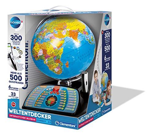 Clementoni 59095 Galileo Science – Interaktiver Globus Connect 2.0, sprechende Weltkugel mit Fragen &...