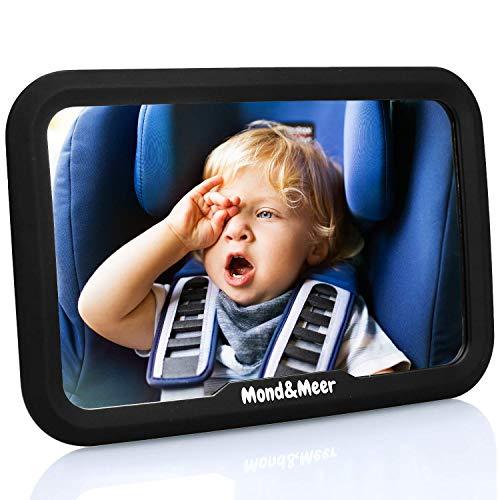 Mond&Meer Rücksitzspiegel für Babys - 360° schwenkbar - bruchsicherer, flexibler Baby Rückspiegel...