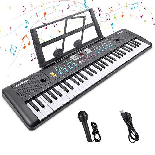 Digital Keyboard,Tastatur Klavier Digital Piano 61 Schlüssel Elektronische Klaviertastatur Einsteiger...