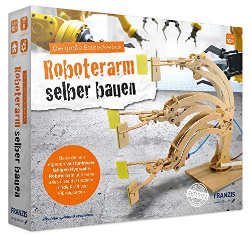 FRANZIS young Explorer Die große Entdeckerbox: Roboterarm selber bauen | Holz-Bausatz für voll...