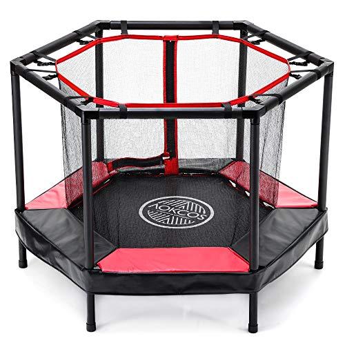 AOKCOS Kinder-Trampolin 4 ft Mini-Trampoline mit Netz und Sicherheitspolster - Kleinkind-Trampolin für...