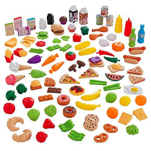 KidKraft 63330 Spielzeug-Lebensmittel Spiellebensmittel Deluxe Tasty Treats, 115 Teile und Zubehör für...
