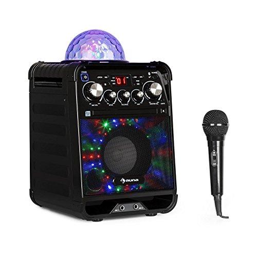 auna Rockstar - Karaoke-Anlage, Mini-Sound-System, Karaoke-System, LED-Jellyball, AVC-Funktion,...