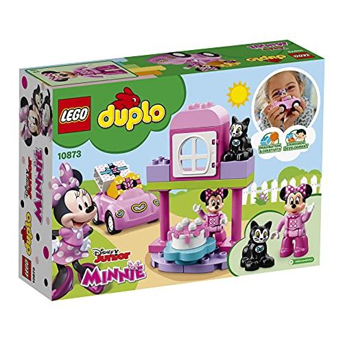 LEGO 10873 DUPLO Disney Minnies Geburtstagsparty, Bauset mit Minnie Maus, Katzenfigur, Spielzeugauto und...