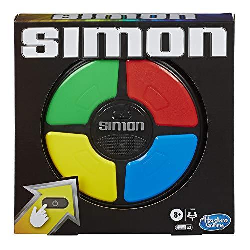 Hasbro Simon Spiel, elektronisches Merkspiel für Kinder ab 8 Jahren; Spiel mit Lichtern und Geräuschen,...