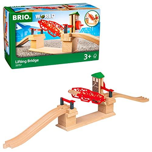 BRIO World 33757 Hebebrücke – Eisenbahnzubehör für die BRIO Holzeisenbahn – Kleinkinderspielzeug...