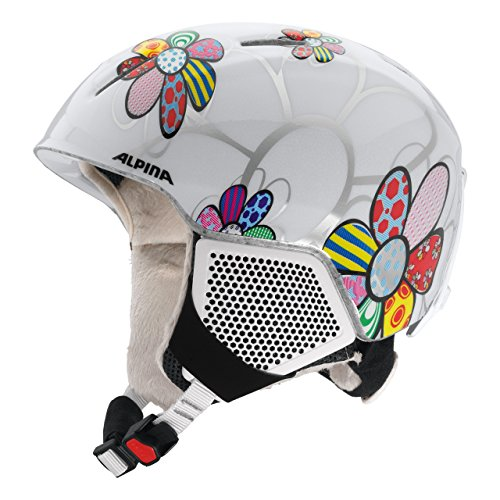 ALPINA CARAT LX Skihelm, Kinder, patchwork-flower, 54-58