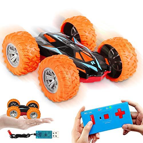 Etmury Ferngesteuertes Auto für Kinder Wiederaufladbar Doppelseitige Stuntauto Offroad 2.4GHz 360°-Spin...