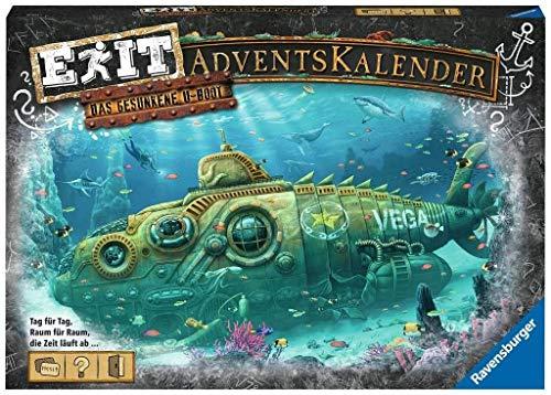 Ravensburger EXIT Adventskalender 2020 - Das gesunkene U-Boot - Ideal für Escape Room-Fans: 24 spannende...
