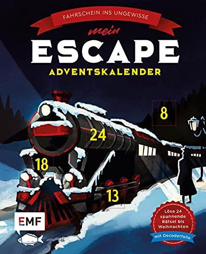 Mein Escape-Adventskalender: Fahrschein ins Ungewisse – Mit Decoderfolie: Löse 24 spannende Rätsel...