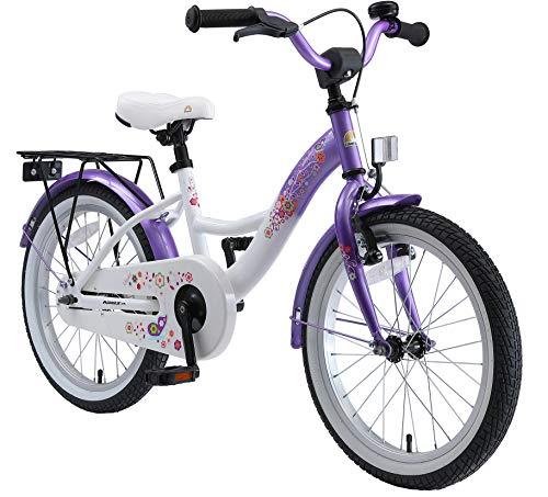 BIKESTAR Kinderfahrrad für Mädchen ab 5 Jahre | 18 Zoll Kinderrad Classic | Fahrrad für Kinder Lila &...
