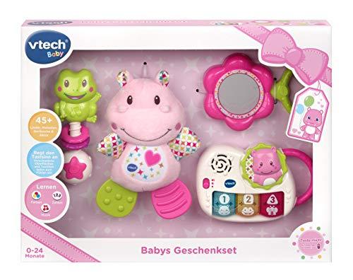 Vtech 80-522054 Babys Geschenkset pink, Babyspielzeug, Mehrfarbig