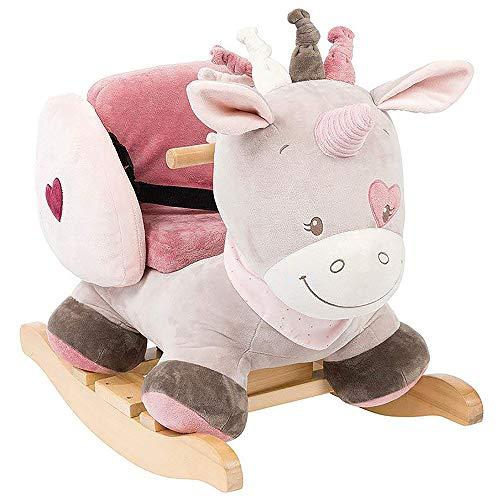 rosa Mädchen Adèle der Elefant Mädchen 424271 Nattou Schaukeltier ab 1 Jahr mit Gurt