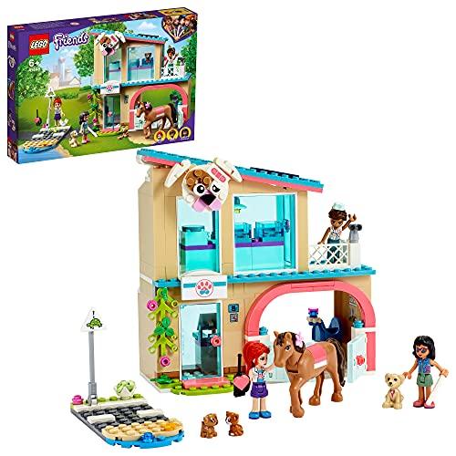 LEGO 41446 Friends Heartlake City Tierklinik Spielset mit Mia, Savannah und Donna, Pferd und Blindenhund,...