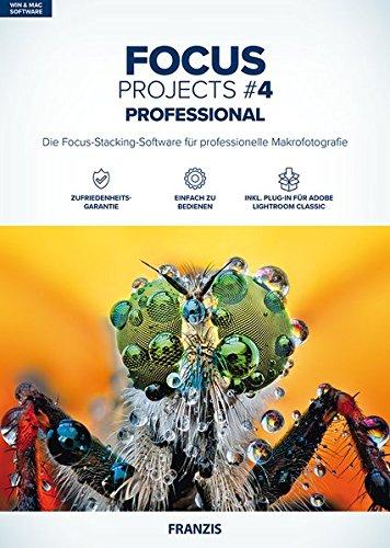FRANZIS FOCUS projects 4 professional |Focus-Stacking leicht gemacht | für Windows PC und Mac |CD-ROM
