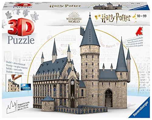 Ravensburger 3D Puzzle 11259 - Harry Potter Hogwarts Schloss - Die Große Halle - 540 Teile - Für alle...