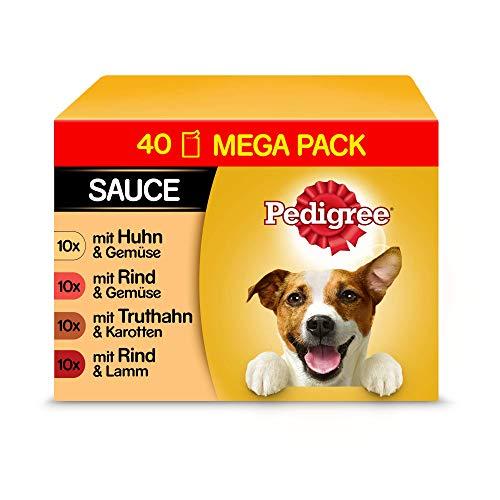 Pedigree Vital Protection Hundenassfutter im Beutel – Hundefutter in Sauce mit Huhn, Rind, Geflügel &...